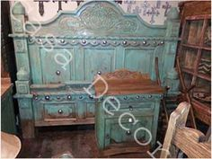 Painted Concho Bed