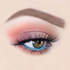 Clean 2 Tone Eye Makeup Look With Pink Eyeshadow And Blue … Clean 2 tone eye makeup look with pink eyeshadow and blue 2 tone eye makeup – Eye Makeup Makeup Goals, Makeup Inspo, Makeup Inspiration, Makeup Tips, Beauty Makeup, Makeup Ideas, Hair Makeup, Style Inspiration, Gorgeous Eyes