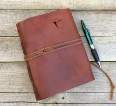 Large Leather journal / rustic brown leather journal / leather writing journal / travel journal / by moon and hare by MoonAndHare on Etsy