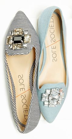 Jeweled flats...perfect for the office