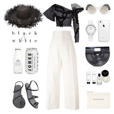 """""""Unbenannt #958"""" by fashionlandscape ❤ liked on Polyvore featuring Sensi Studio, Ancient Greek Sandals, Cult Gaia, Jacquemus, Cutler and Gross, Bobbi Brown Cosmetics, Maticevski, Rituals and Balenciaga"""
