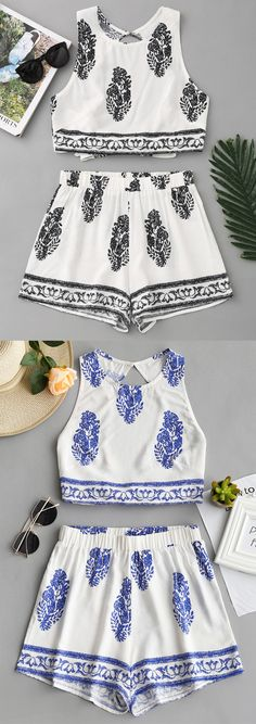 Up to 80% OFF! Bow Tied Printed Open Back Top And Shorts Set. #Zaful #TwoPieces zaful,zaful outfits,zaful dresses,spring outfits,summer dresses,Valentine's Day,valentines day ideas,valentines outfits,cute,casual,classy,lace,mesh,fashion,style,bottoms,shorts,jumpsuits,rompers,playsuits,playsuit outfit,dressy jumpsuits,playsuits two piece,two piece outfits,two piece dresses,dresses,printed dresses,sundresses,long sleeve dresses,mini dresses,maxi dresses,lace dress @zaful Extra 10% OFF…