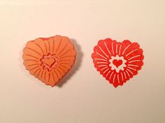 Heartburst rubber stamp 1 .  Handmade rubber by ArtfulSunshine
