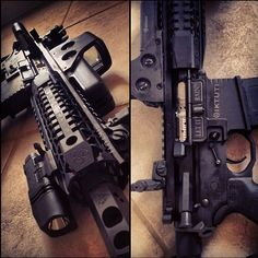 M4 side view, damn look at that clean chamber no carbon build up or anything.