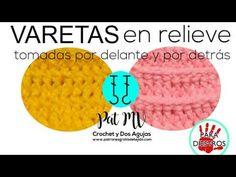 (210) Cómo hacer 💚 PUNTO VARETA EN RELIEVE 💚 por delante y por detrás paso a paso / Clase # 11 - YouTube Stitch Book, Crochet Videos, Crochet Stitches, Chart, Craft, Learn To Crochet, Cross Stitches, Crochet Tutorials, Counted Cross Stitches