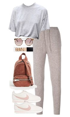 """Untitled #5490"" by theeuropeancloset on Polyvore featuring Le Kasha, NIKE, Alexander Wang, Topshop and NARS Cosmetics"
