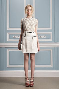 lace overlay top with textured skirt = timeless