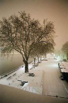 Snow cannons at the Tower of London by Ed.ward, via Flickr. Good capture of 'snow light'.