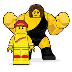 Inspired by Hulk Hogan and Andre The Giant Fine Art Giclee Print Limited Edition of 65 Approximately x Lego Hulk, Hulk Tv, Hulk Funny, Andre The Giant, Screen Print Poster, Hulk Hogan, Professional Wrestling, Lego Movie, Character Design References