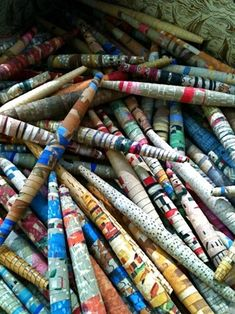 Paper Beads -- a favorite Girl Scout craft! - Click image to find more other Pinterest pins