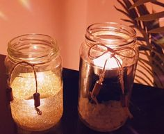 #decor#room decorating#diycraft#Jardecorides#easy#candle #ideas#DIY#handmade Decor Room, Mason Jars, Candle Holders, Projects To Try, Candles, Decorating, Easy, Handmade, Decor