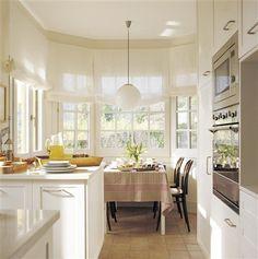 Comer en la cocina: 18 office con mucho encanto · ElMueble.com · Cocinas y baños #kitchen