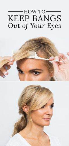 An easy way to keep bangs out of your eyes!