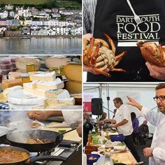 This weekend is my favourite weekend of Dartmouth's calendar - The Dartmouth Food Festival. If you haven't been lucky enough to experience it I cannot recommend it enough. The town is full of wonderful food, fantastic chefs and so many interesting functions for you to take part in!! If you can't make it this year make it a must for next year! #dartmouthfoodfestival #dartmouth #devon #localproduce #mannafromdevon #cafealfresco #mitchtonks #seahorserestaurant #bayardscoveinn #swisbest Dartmouth Devon, South West Coast Path, South Devon, Food Festival, Romantic Travel, Ladies Boutique, Chefs, Calendar, Restaurant