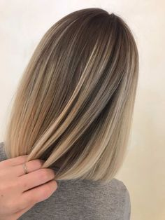 Ombre amazing hair tone - All For Hair Color Balayage Blonde Hair With Highlights, Brown Blonde Hair, Hair Color Balayage, Balyage Short Hair, Blonde Balayage, Ombré Hair, Honey Hair, Hair Looks, Hair Lengths