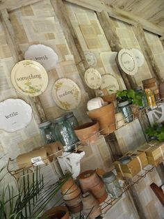 Great potting shed wall decor
