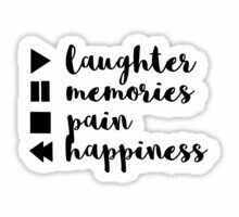#memories #laughter  #pain #happiness #tumblr #sticker