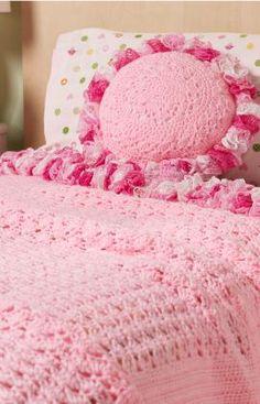 Sweet Ruffles Blanket & Pillow Crochet Pattern