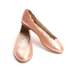 Rose Gold Scalloped Flats
