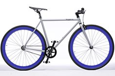 fixed gear bikes with colored wheels by Pure Fix
