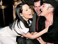 Lucy Liu , Alexis Roche and John Galliano