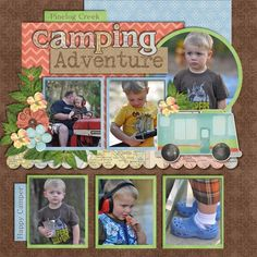 camping scrapbook pages | Camping Scrapbook Page | Scrapbooking-BOY Layout Ideas