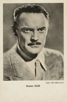 https://flic.kr/p/HjjWUZ | Gustav Diessl | German postcard by Das Programm von Heute, Berlin / Ross Verlag. Photo: Ufa / Hämmerer.  Austrian film and stage actor Gustav Diessl (1899-1948) was the hero of the first Mountain film, Die weiße Hölle vom Piz Palü (1929). This film and others by prolific director G.W. Pabst made him at the time an unusual sex symbol: the mature, quiet, somewhat difficult man who attracts women almost against his will. Under the Nazi regime he was often cast as an…