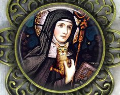 Gertrude of Nivelles, 626 AD--March Patron Saint of cats. March 17 is the Feast Day of Saint Gertrude of Nivelles. Patron Saints, Crazy Cat Lady, Crazy Cats, Patron Saint Of Cats, Art Amour, Animal Gato, Early Middle Ages, Cat Art Print, Here Kitty Kitty