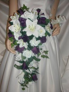 CASCADE BRIDAL BOUQUET LILY GARDENIA - Love but with more flowers