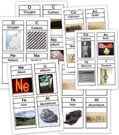 Our Worldwide Classroom: free printable, three-part cards for the periodic table of elements, w13-18