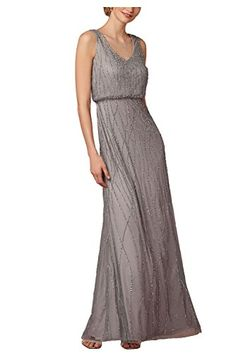 <b>MARSEN Women Elegant Black V-neck Sleeveless Sequins Maxi Formal Evening Dress</b>Only sold and manufacturer by Marsen - Professional in making party dresses and Formal dresses.<b>Features:</b>• Color: Champagne• Sexy Tulle Appliques Design,Sleeveless,O-Neck,Mermaid style,Floor Length• Fitted waist,Elegant Slim Long Dress• All of our dress bulit in bra,so you do not need wear a braThis Sexy Mermaid Style will never be out of fashion,your must choice for Evening Party,Wedding and…