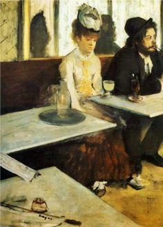 Correio da Júlia Paixão: Edgar Degas -The absinthe drinker(1876)   os jap...