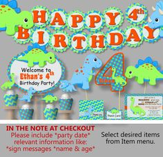 Dinosaur Birthday Party Decorations or Baby Shower