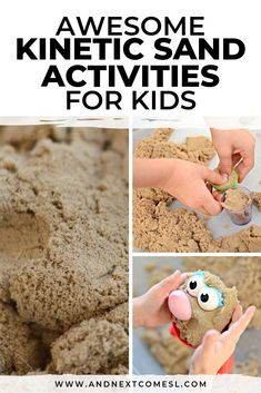 Do your toddlers and preschool aged kids love kinetic sand? Or are you looking for ways to use kinetic sand in the classroom? Then you've got to check out these kinetic sand activities for kids! Sensory Activities For Autism, Indoor Activities For Toddlers, Sensory Bins, Preschool Learning, Kindergarten Activities, Infant Activities, Toddler Preschool, Sensory Play, Diversity Activities