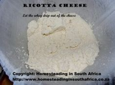 Ricotta cheese in cheesecloth
