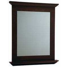 Pics Of Shop Diamond Palencia in W x in H Espresso Rectangular Bathroom Mirror Bathroom MirrorsLowesExpressed