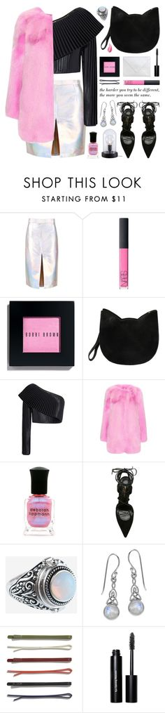 """"""" NEW CONTEST  (view description)"""" by jesuisunlapin ❤ liked on Polyvore featuring NARS Cosmetics, Bobbi Brown Cosmetics, Forever 21, Balmain, Gucci, Deborah Lippmann, Yves Saint Laurent, Rock 'N Rose, Madewell and Urban Decay"""