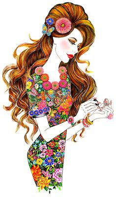 sunnygu beauty prettypotspolish - Fashion Illustrations by Sunny Gu