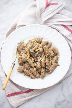 ... chestnut gnocchi with walnut pesto ...