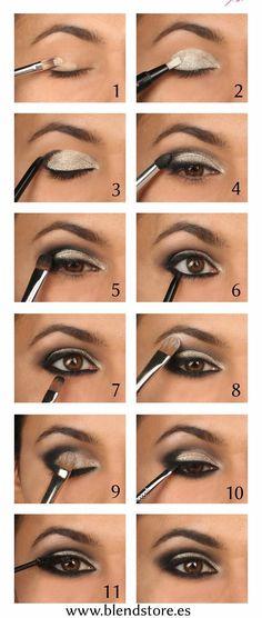 Sigue estos 12 pasos para lograr un smokey eye profesional.