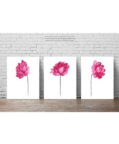 Shabby Chic Set of 3 Cotton Natural Art Print Cotton Bolls Watercolor Painting White Taupe Beige Brown Home Decor Living Room Wall Peony Painting, Watercolor Paintings, Cotton Painting, Peony Drawing, Floral Watercolor, Wall Paintings, Painting Abstract, Watercolours, Painting Art