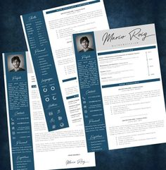 Eye-catching Professional Resume + Cover letter Template Editable for MS Word - Curriculum Vitae - English CV with Fonts included - Resume Cover Letter Template, Cv Template, Letter Templates, Resume Templates, Professional Resume, Good Mood, Knowledge, Lettering, Words