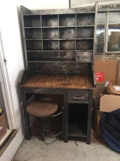 Antique Mail Sorting Desk $1200