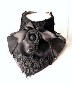 romantic neck corset with lace and roses ♥