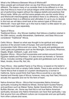 Types of Witches pg. 3  (What's the Difference Between Wicca & Witchcraft? - Native American Wicca) - Pinned by The Mystic's Emporium on Etsy