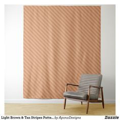 Shop Light Brown & Tan Stripes Pattern Tapestry created by AponxDesigns. Shop Lighting, Tapestries, Stripes, Curtains, Brown, Pattern, Home Decor, Hanging Tapestry, Blinds