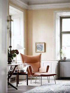 Carl Hansen & Søn CEO Knud Erik Hansen's home in Denmark. Wing chair by Wegner