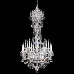 "Schonbek Olde World 36""W Silver Swarovski Crystal Chandelier - #42727   Lamps Plus"