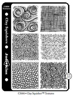 Texture Patern Mats, great for PMC! Naja Tool $13.00 http://www.najatools.com/clay-squisher-pattern-mat-textures/