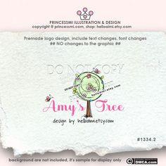 Tree logo Premade Logo Design custom logo hand drawn by helloaimi